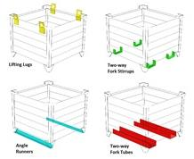 ADD-ON OPTIONS FOR CORRUGATED BULK STEEL CONTAINERS